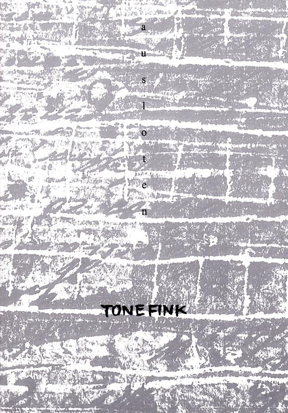 FINK : KAT 34 -  ausloten / Zeichnungen, Bilder, Objekte, Bücher